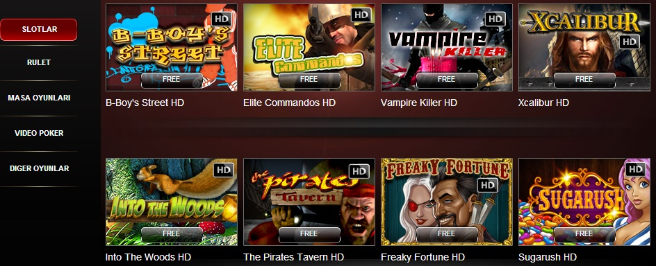 bedava video slot casino oyunları